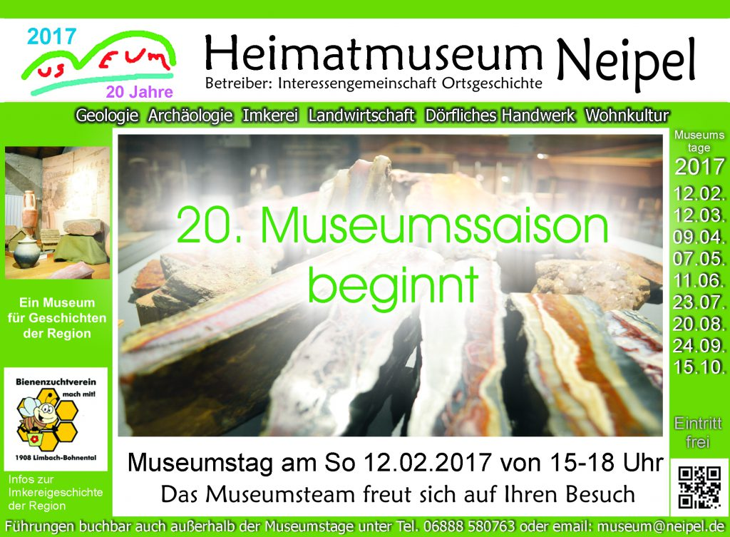 20. Museumssaison beginnt